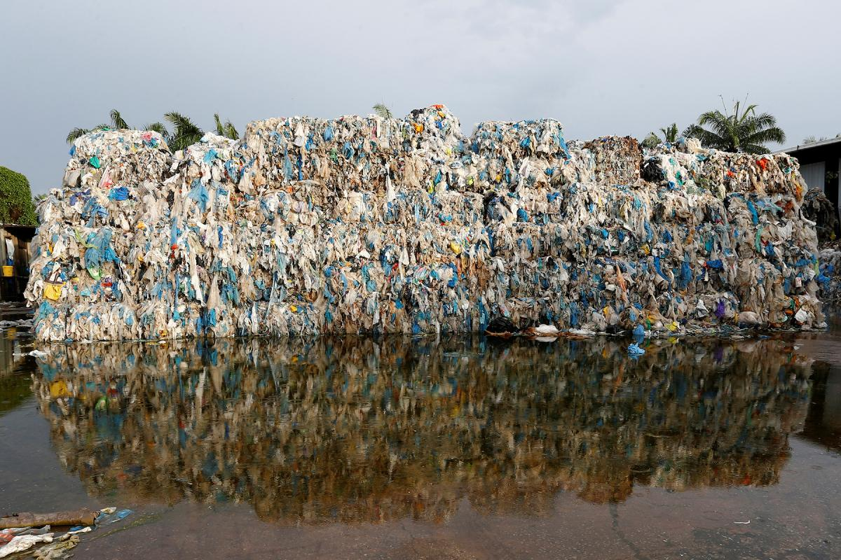 Plastic waste is piled up outside an illegal recycling factory in Jenjarom, Kuala Langat, Malaysia in October. Lai Seng Sin/REUTERS