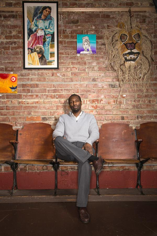 Editor Marcus Green gave up a career in the financial industry to start the South Seattle Emerald. Photo by Harold Shand