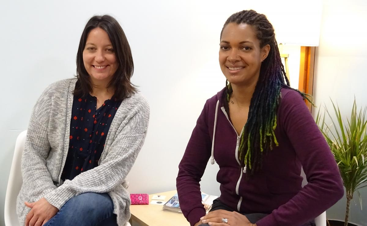 Jacquie Gallaway, left, and Rian Roberson with Seattle Therapy Alliance. Both say #MeToo has made talking about sexual trauma with their clients more accessible. Photo by Lisa Edge