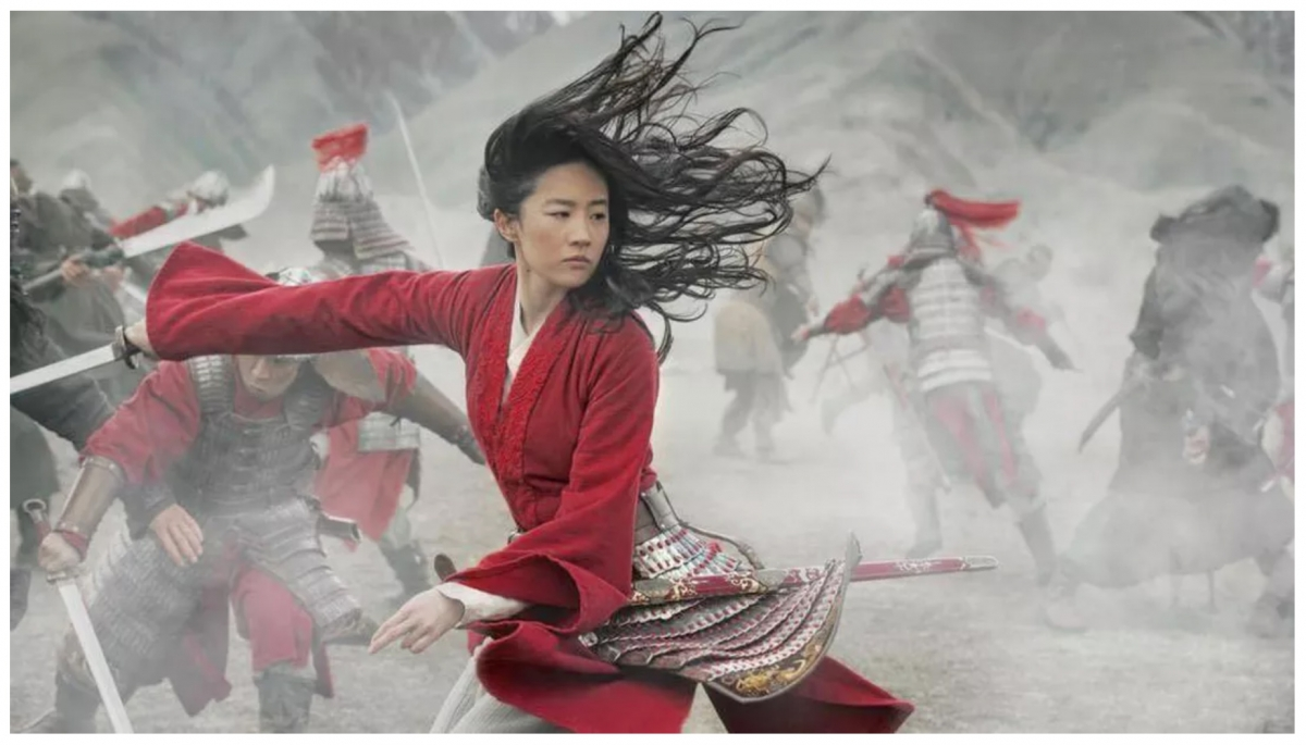 Liu Yifei plays Mulan in Disney's live-action remake of their 1998 animated film. Disney released the film to video on demand, eschewing theaters because of the coronavirus.