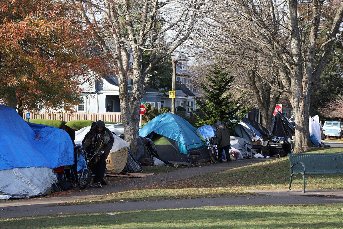 The tents that were lined up along the outskirts of People's Park in Tacoma in November are now gone. The city has recently begun enforcing a new ordinance that prohibits structures with walls in public parks.