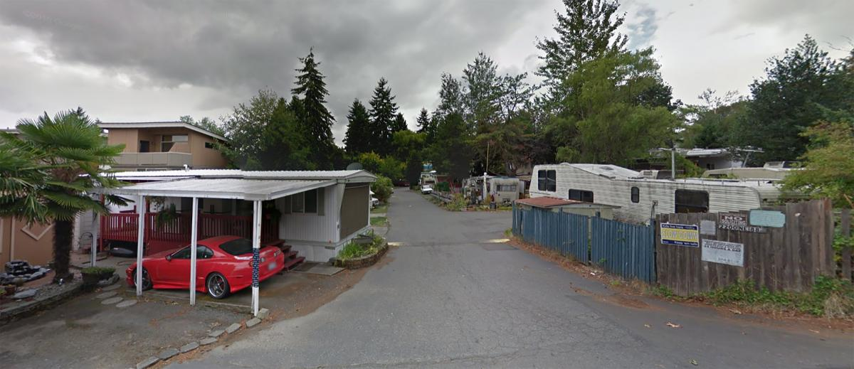 Residents at the University Trailer Park were notified in March that the land under their trailer homes was sold to a developer. Soon there will be 89 townhouses. Photo from Google maps