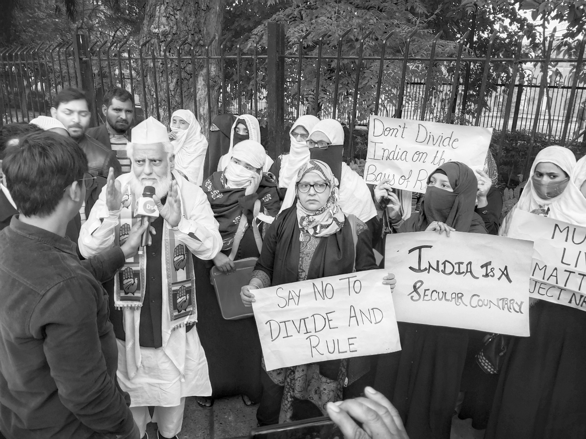 Residents of  New Delhi protest against the Citizenship Amendment Act and the National Register of Citizens in December.