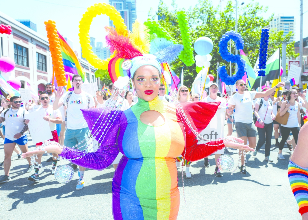 Seattle's 2019 Pride parade was a full-out celebration that lasted several hours and spanned downtown's Fourth Avenue.
