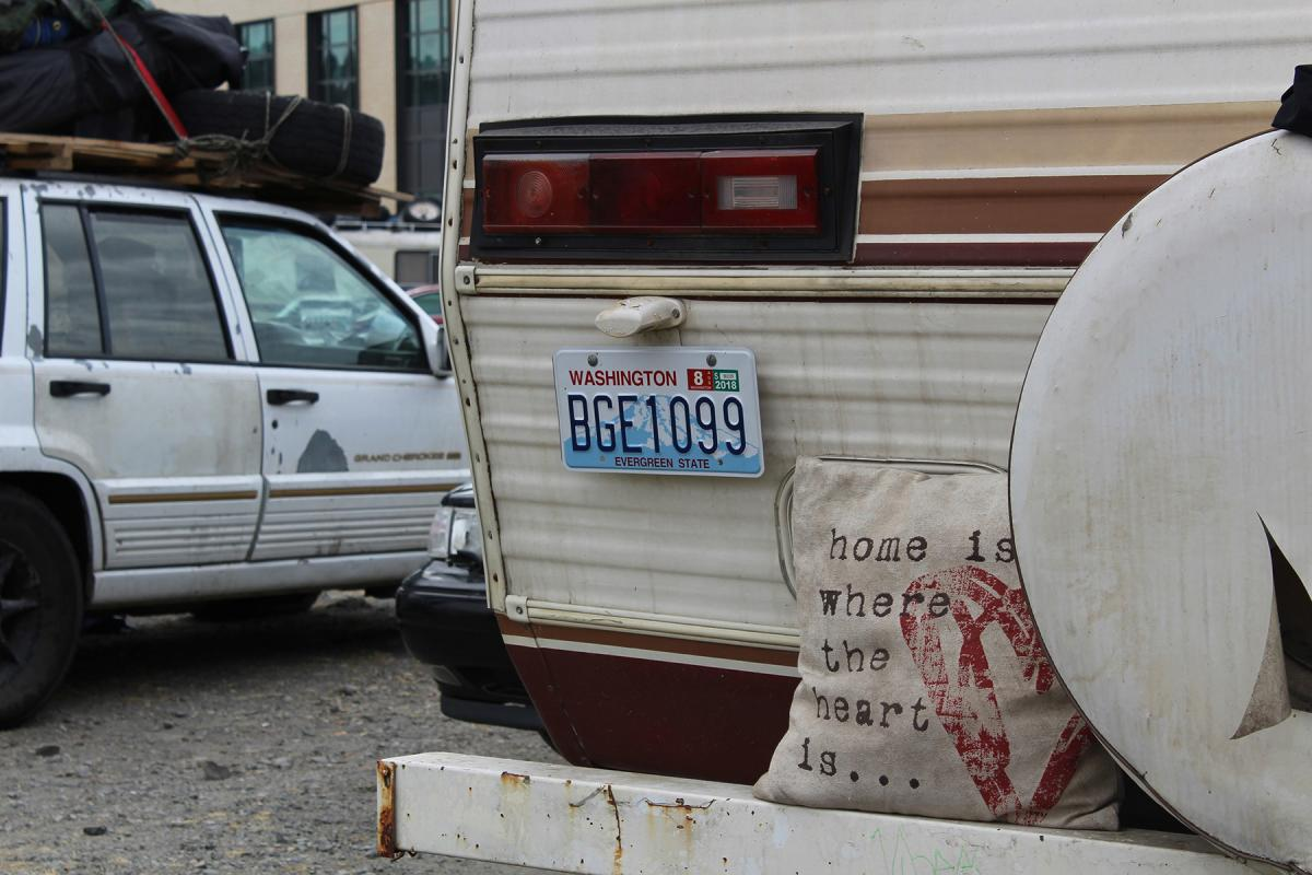 As the city grapples with an employee-hours tax to help combat homelessness, city staff issued one proposal to pay for safe parking lots for vehicle residents. File photo by Alex Visser