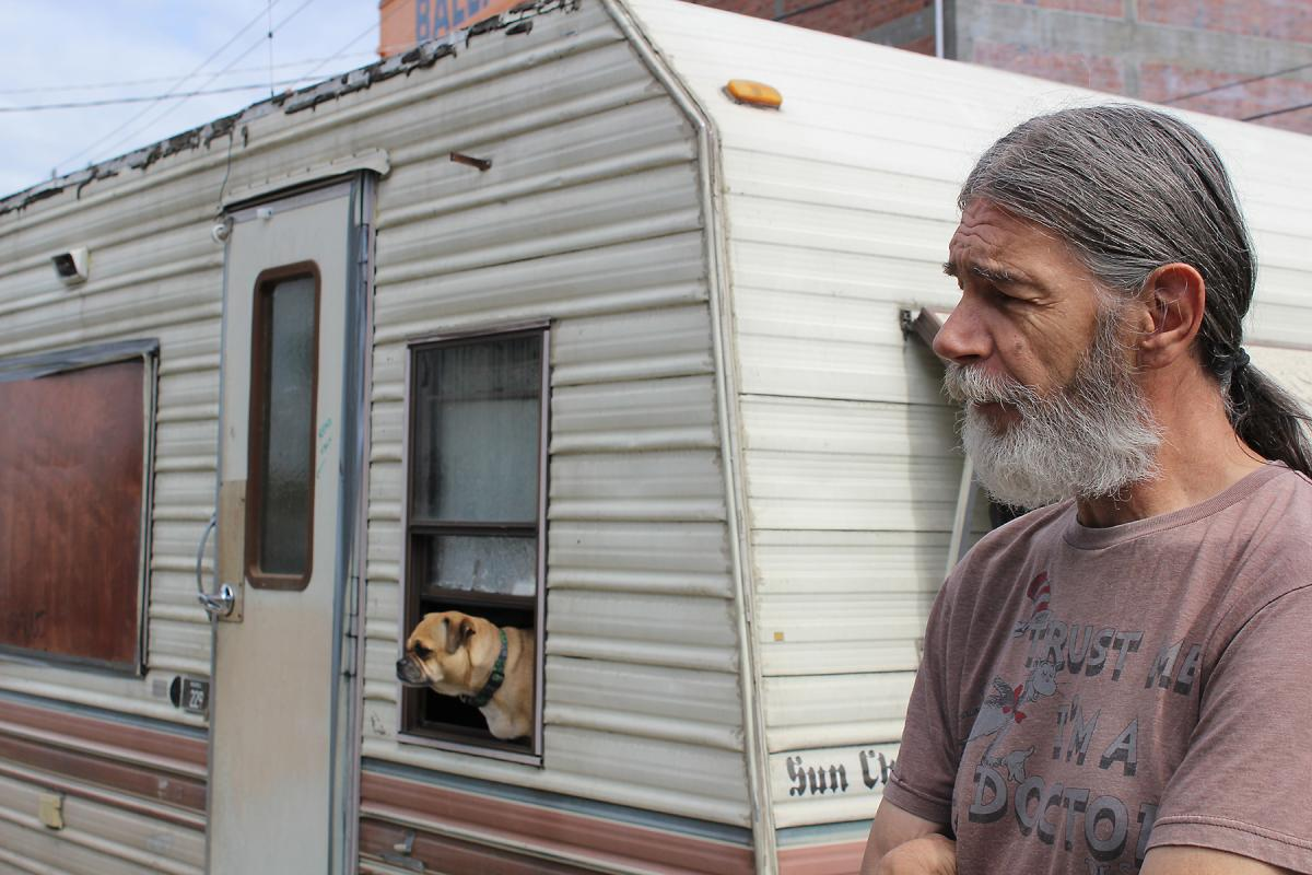 Rick S. lives in an RV and works in the Ballard area. Photo by Alex Visser