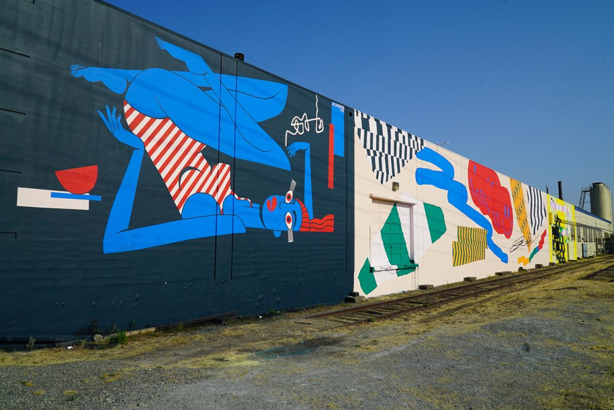 The SODO Track is a three-year project bringing public art to a two mile corridor in SODO. Photo by Susan Fried