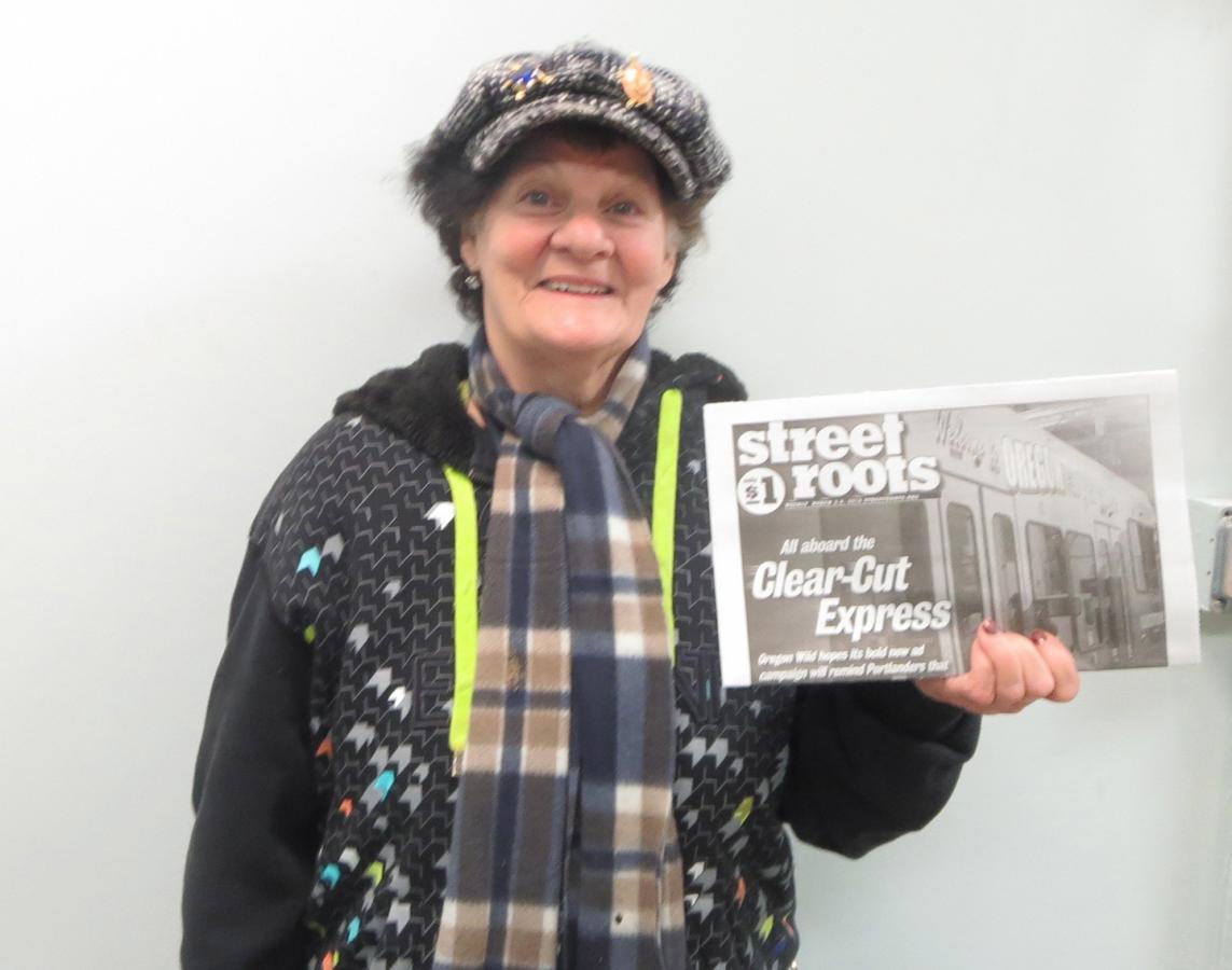 Gail Marcotte, Street Roots vendor