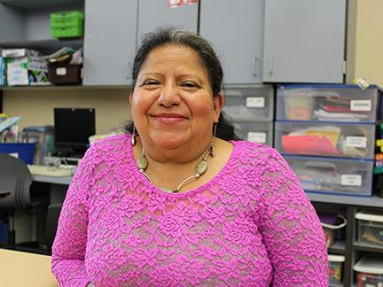 Sandra Aguila Salinas teaches in SeaTac in the Highline School District. Back in the 1980s, a Quaker church in the University District offered her sanctuary as a refugee. Photo by Ashley Archibald