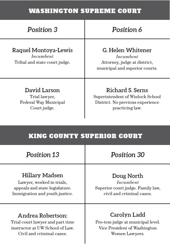 Judicial races determine who rules in the court of law, but get little exposure.