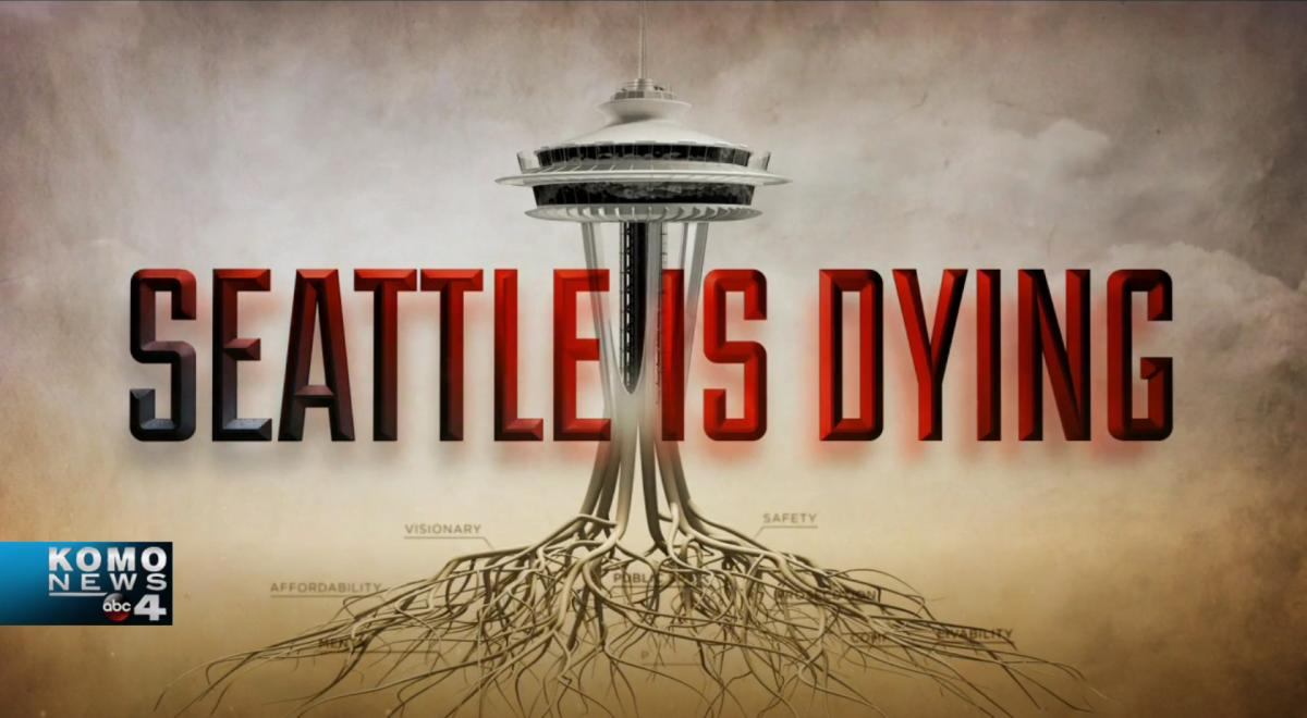 "On March 16 KOMO aired a special report titled ""Seattle Is Dying."" The one-hour special from Anchor Eric Johnson tells us Seattle is ""a beautiful jewel that has been violated."""