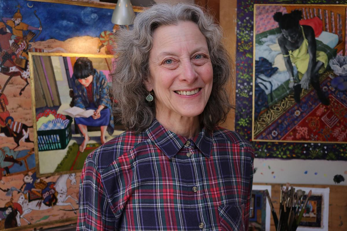 Terry Furchgott in her home studio in Seattle. Photo by Jon Williams.