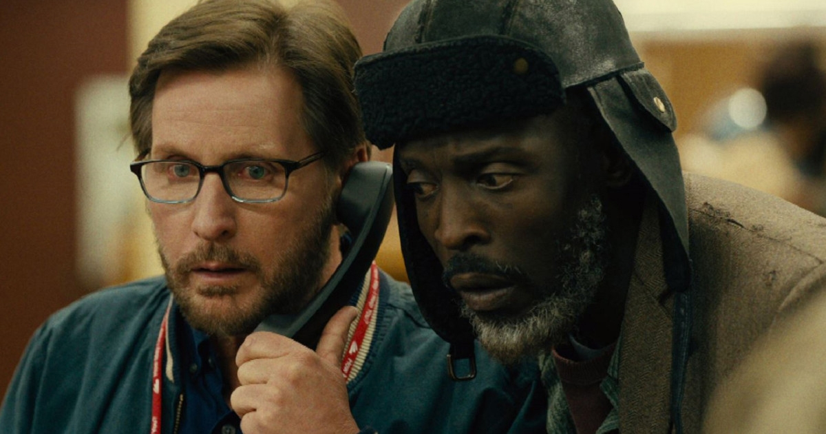"Writer, director and star of ""The Public,"" Emilio Estevez (left) works with actor Michael K. Williams, who played a person experiencing homelessness in Cincinnati, Ohio. Photo courtesy IMDB"