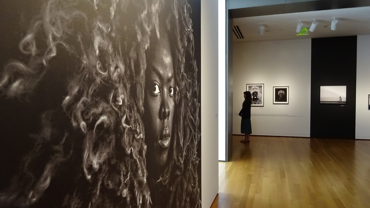 "Gallery view of ""Zanele Muholi: Somnyama Ngonyama, Hail the Dark Lioness"" at Seattle Art Museum. Photo by Lisa Edge"