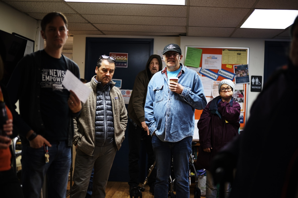 Wednesday mornings are usually busy for everyone at Real Change and center around customs to get the week's new paper to vendors. Tim was there those early mornings for many years to greet, support and discuss the news with vendors and coworkers.