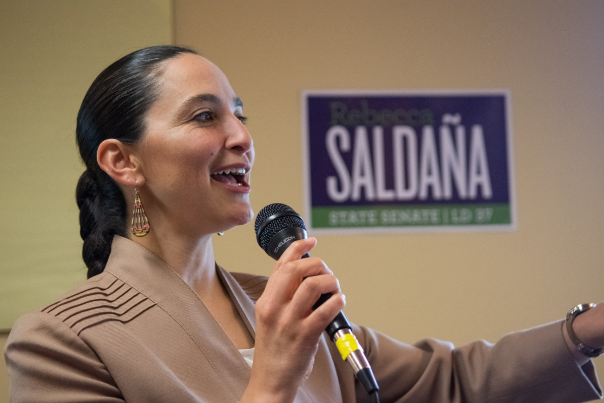 Rebecca Saldaña is a senator for Washington's 37th Legislative District, a position to which she was appointed by the King County Council to succeed U.S. Rep. Pramila Jayapal. Courtesy of Saldaña's campaign site, http://rebeccasaldana.com