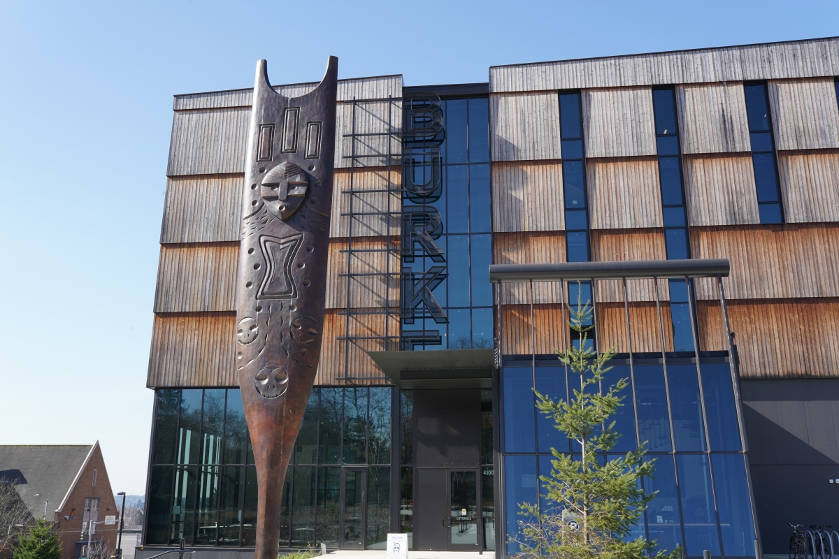 The Burke Museum of National History and Culture is the oldest museum in Washington; it currently has human remains in its inventory, the majority of whom were of Native American Ancestry. The new Burke, which opened in 2019, is fronted by an installation