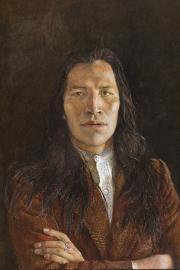 """Nogeeshik,"" 1972, Andrew Wyeth, tempera on hardboard panel"