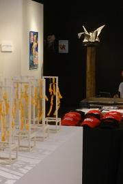 """The show """"ARTRUMPS: Resistance and Action"""" at Bonfire Gallery features anti-Trump artwork. Photo by Lisa Edge, Real Change"""