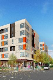 Rendering courtesy of Capitol Hill Housing. When completed, the redeveloped Liberty Bank Building in the Central District will rent its to people earning between 30, 50 and 60 percent of the area median income. The private activity bonds and tax credits d