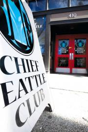 Chief Seattle Club entrance on Second Ave Ext. S in Pioneer Square. File photo by Ngoc Tran