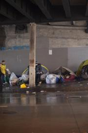 A recent lawsuit argues that Seattle and WSDOT's encampment cleanups are violating campers' civil rights. File photo, 2015
