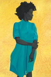 """Saint Woman,"" oil on canvas by Amy Sherald"