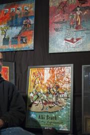 Lawrence Pitre's at his art studio. Photo by Monica Westlake
