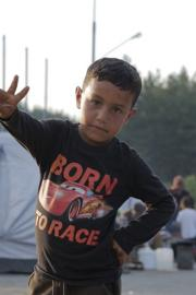Six-year-old Menwar Al Bakri, a Syrian refugee, narrates the short film. Photo courtesy of Ida Theresa Myklebost