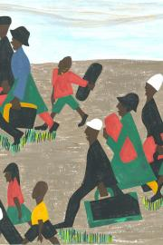 Panel #40 The migrants arrived in great numbers. Jacob Lawrence