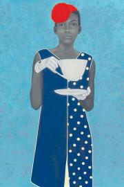 """""""Miss Everything (Unsuppressed Deliverance)"""" by Amy Sherald, oil on canvas, 2013."""