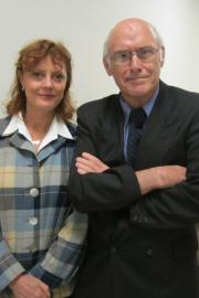 Michael Stoops with Susan Sarandon during her 2014 visit to Congress. Photo by Rachel Cain