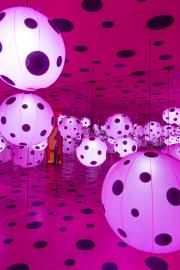 """Dots Obsession–Love Transformed into Dots"" installation. Photo by Matthew S. Browning"