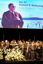 The memorial service for Rev. Dr. Samuel McKinney was held at McCaw Hall in Seattle. Photo by Marcus Harrison Green