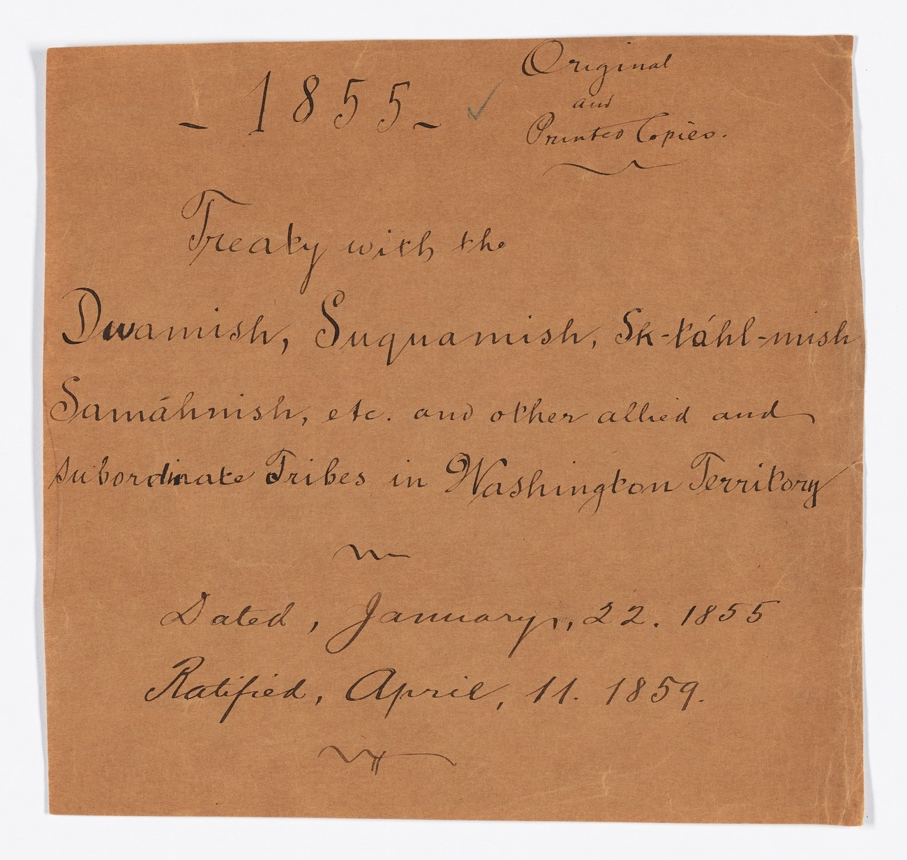 'Ratified Indian Treaty 283'