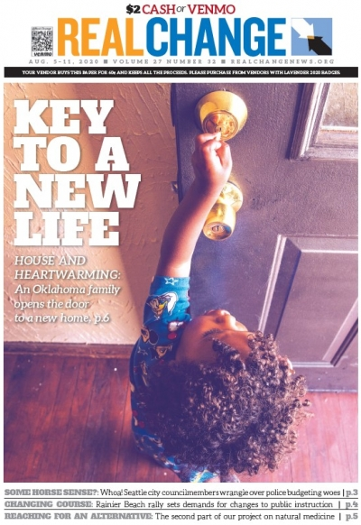 Enduring homelessness is beyond challenging, as known by our colleagues at the Curbside Chronicles. An Oklahoma family found a better life amid the pandemic. Young Messiah has a new home with a house key and everything. Story and photos by Nathan Poppe
