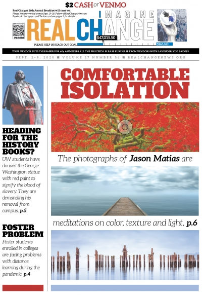 Artist Jason Matias was a soldier who once got lost in the Alaskan wilderness, where he discovered much about himself and began his photographic reflections on solitude. Read about Matias' transformation on page 6.