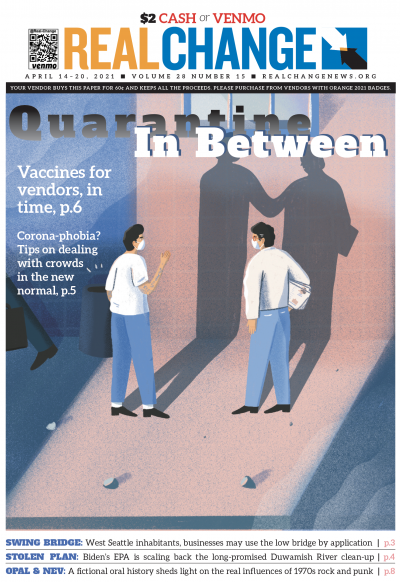 In-person newspaper sales are tough this millennium. People pass in a hurry, repellent of the news and actual paper. Of course, the pandemic made it even harder for our vendors, who have awaited vaccines so they can have a better shot! Details, page 6. Co