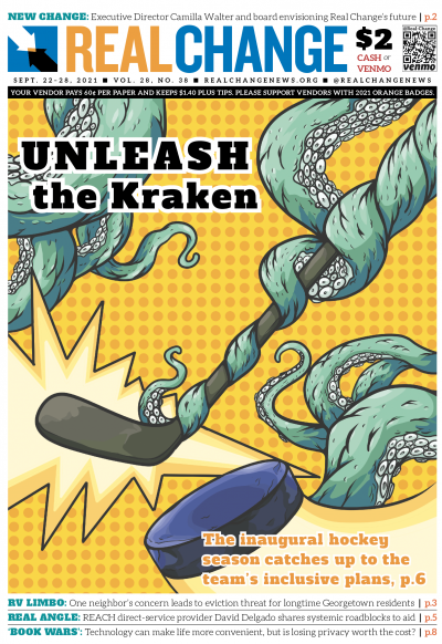 The Seattle Kraken is the city's newest major sports team, crashing into the scene with a message of inclusivity, as illustrated by volunteer Victor Sanchez. The Kraken have made a commitment to help end youth homelessness in Seattle. Reporter Samira Geor