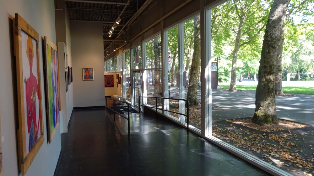 A/NT gallery receives a lot of natural light thanks to a wall of large windows. Photo by Lisa Edge