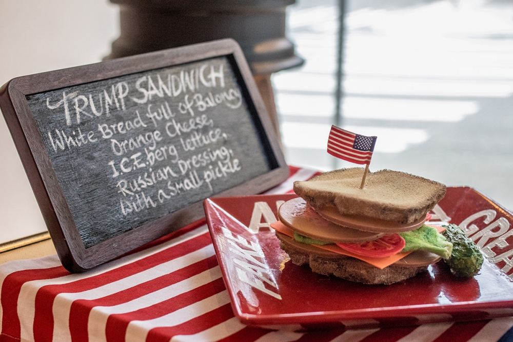 """Trump Sandwich,"" by L. Kelly Lyles. Photo courtesy Bonfire Gallery"
