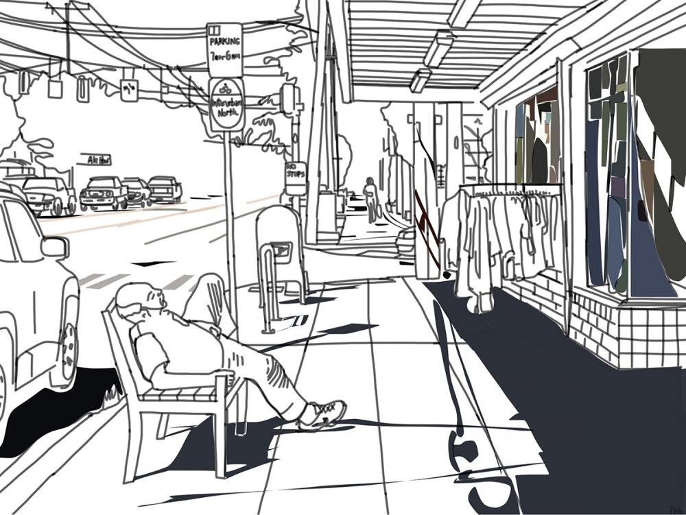 """Greenwood N,"" digital drawing. Akira Ohiso"