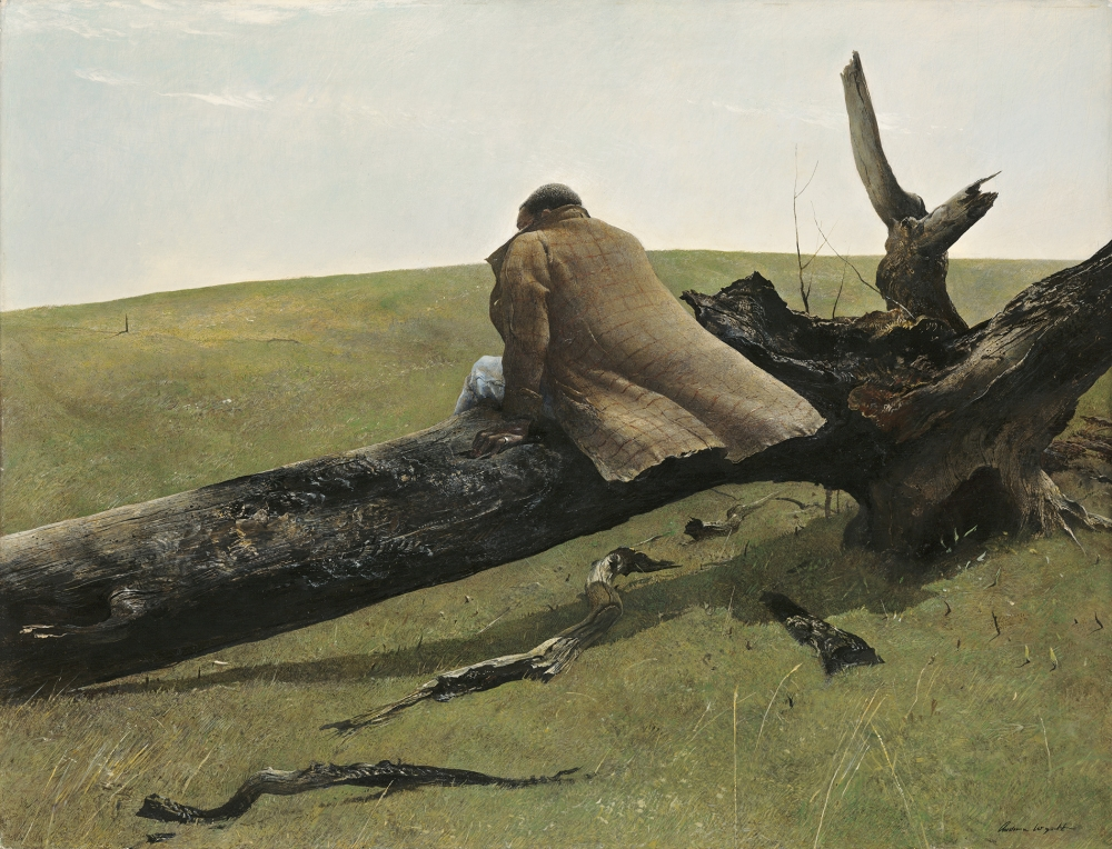 """April Wind,"" 1952, Andrew Wyeth, tempera on hardboard panel"