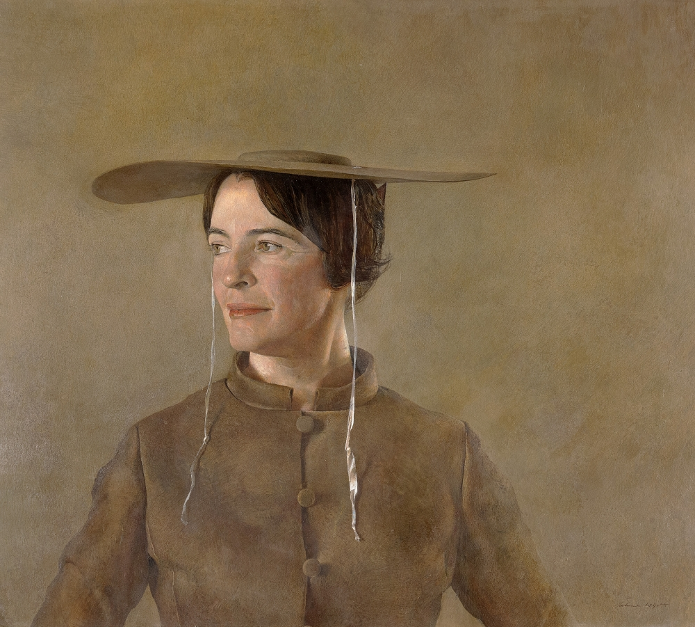 """Maga's Daughter,"" 1966, Andrew Wyeth, tempera on hardboard paper"