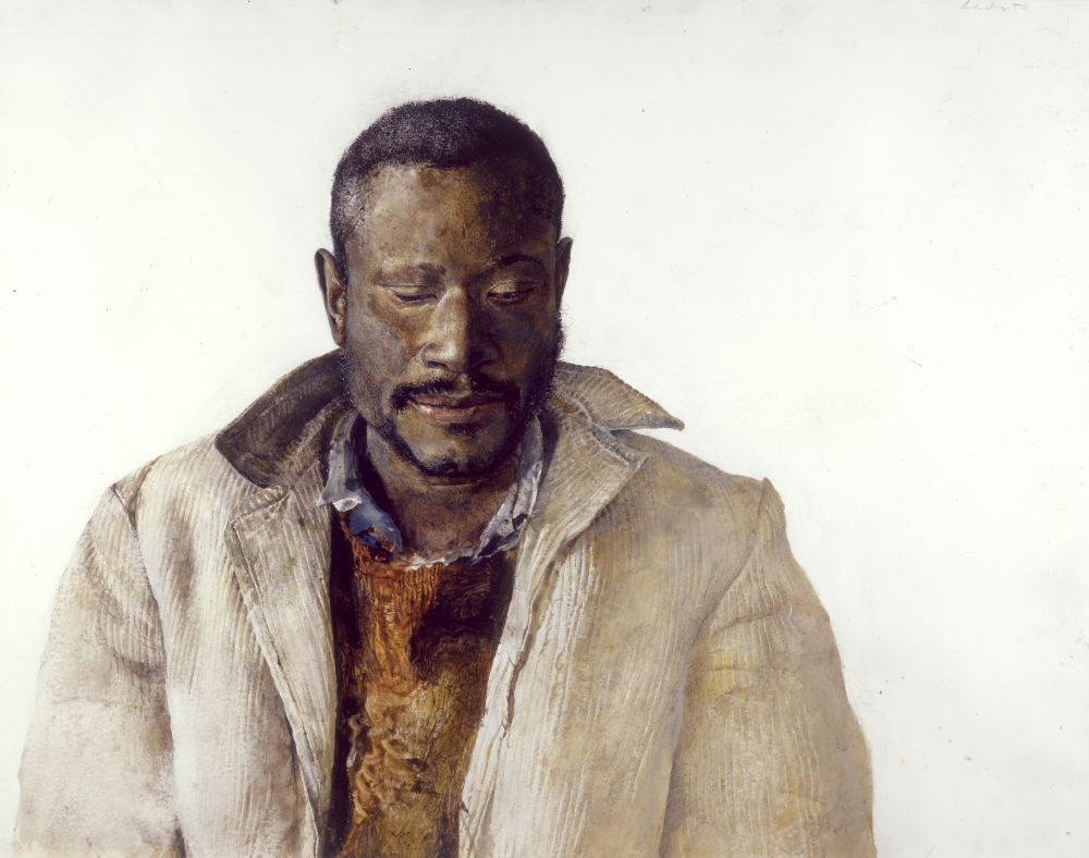 """The Drifter,"" 1964, Andrew Wyeth, drybrush watercolor on paper"