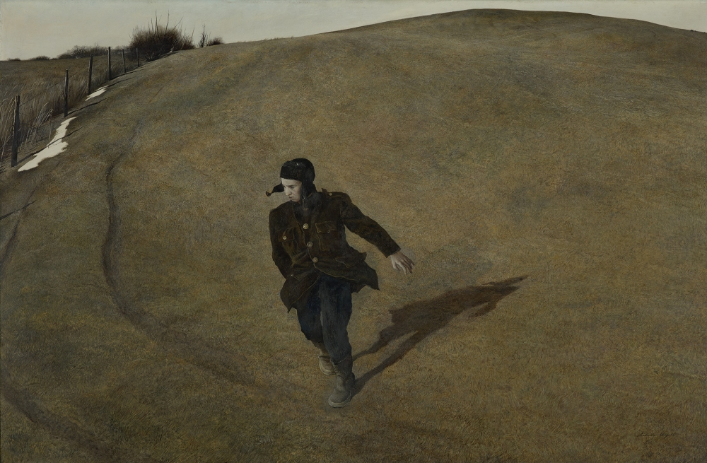 """Winter 1946,"" 1946, Andrew Wyeth, tempera on hardboard panel"