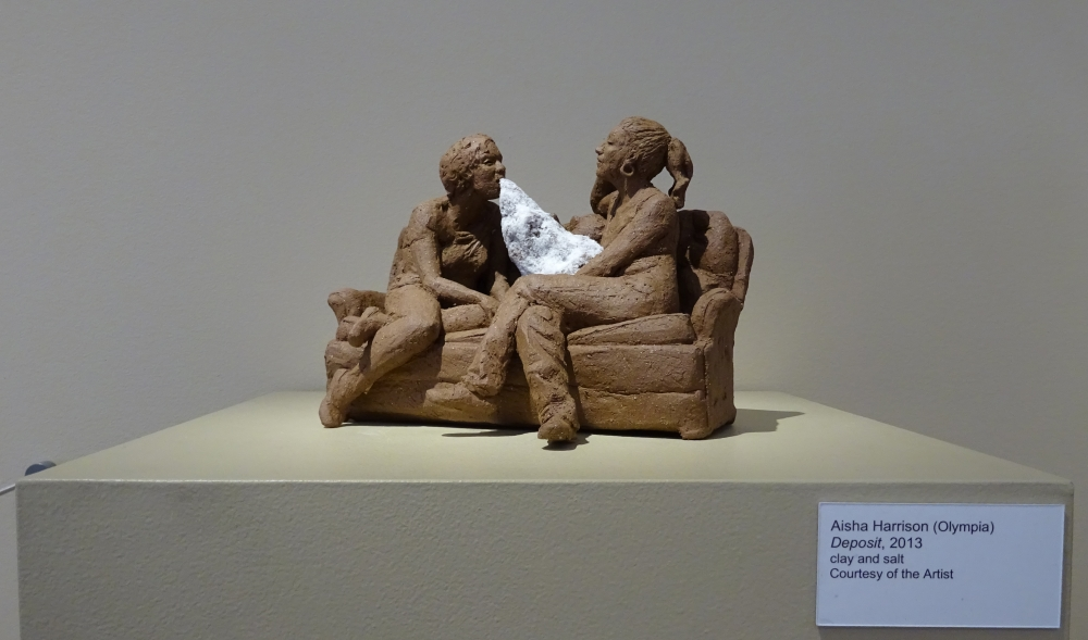 """Deposit,"" by Aisha Harrison, clay and salt, 2013. Photo by Lisa Edge"