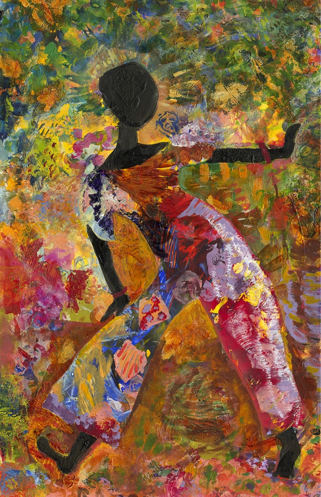 """African Dancer"" by Barbara Oswald"
