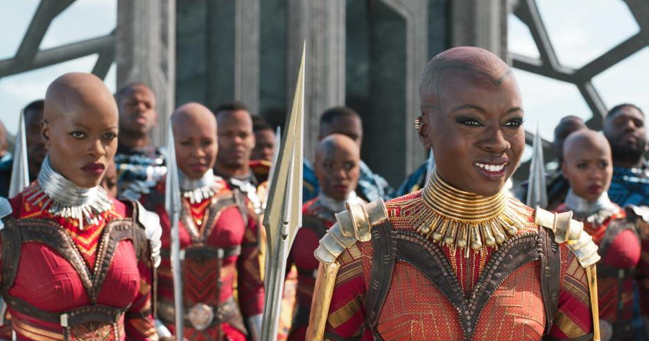 The Dora Milaje. Danai Gurira's Okoye is their leader. Photo courtesy Disney