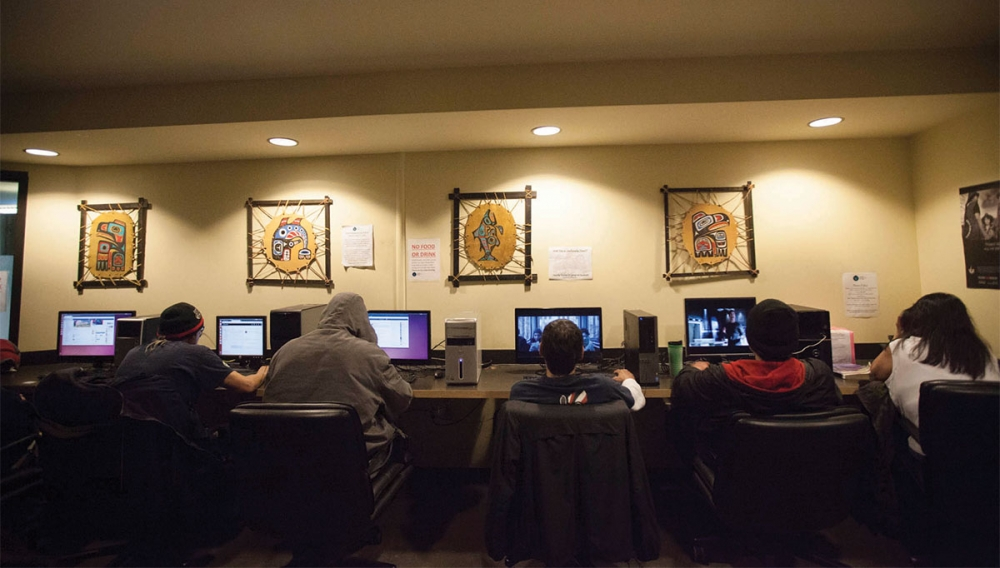 Chief Seattle club provides computer training. Photo by Ngoc Tran